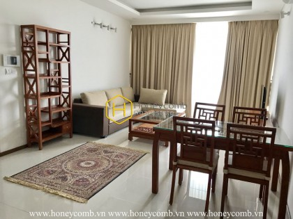 Harmonized grey and beige decor in Thao Dien Pearl apartment