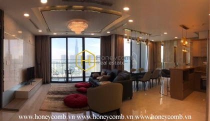 The elegant 3 bedrooms apartment for rent in Vinhomes Golden River