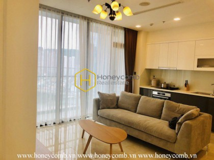 The 2 beds apartment is simple but elegant and cozy in Vinhomes Golden River