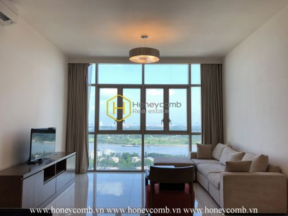 An airy and sophisticated apartment in The Vista is in front of you!