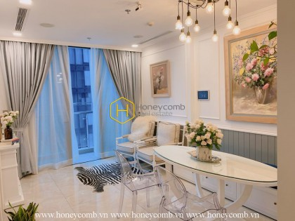 Nothing is wonderful than starting a new day in this Queen Anne-style apartment for rent in Vinhomes Golden River
