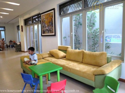 Villa Thao Dien 3 bedrooms with full furnished for rent
