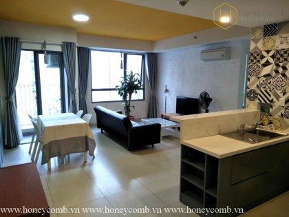 Masteri Thao Dien 2 bedrooms apartment with open kitchen for rent
