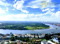 The unfurnished 2 bedrooms apartment but nice view in Masteri An Phu