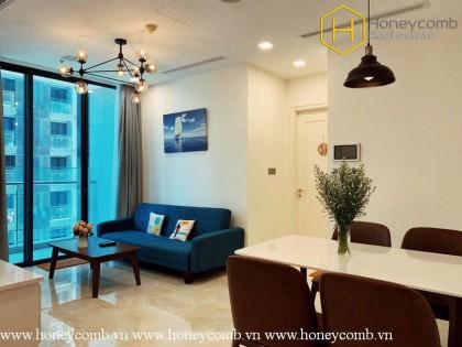 The 1 bedroom-apartment was designed elegantly in Vinhomes Golden River