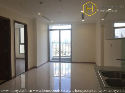 The unfurnished and spacious 1 bedroom-apartment in Vinhomes Central Park