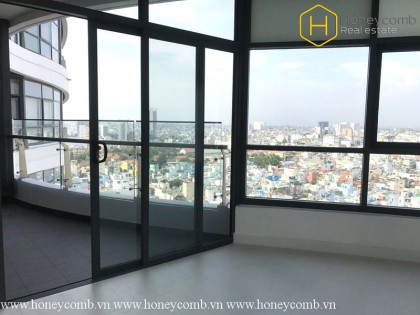 The 3 bedrooms apartment is extremely impressive in City Garden