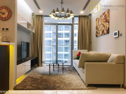 The modern 2 bedrooms-apartment is waiting the tenant in Vinhomes