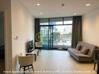 Comtemporary design apartment with neutral color interiors for rent in City Garden