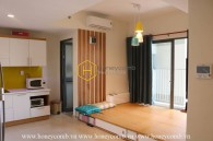 Simple 2 bedrooms apartment with high floor in Masteri Thao Dien