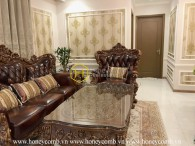 Such a great royal designed apartment that you haven't seen in your life! Now for rent in Vinhomes Central Park
