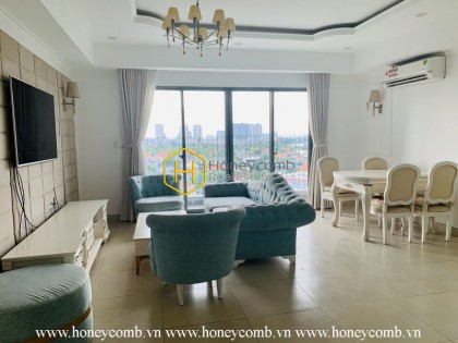Luxury decoration 3 bedroom apartment with river view in Masteri Thao Dien