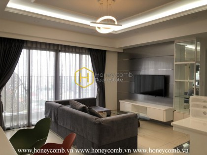 Three bedrooms apartment with luxury and city view for rent in Masteri Thao Dien