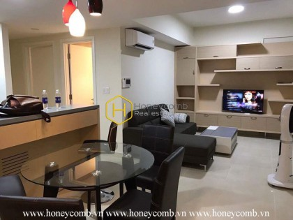 Two beds apartment with open kitchen for rent in Masteri Thao Dien