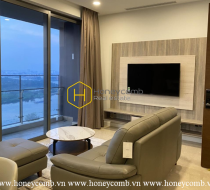 Unique style apartment with mysterious dark tone background for rent in Nassim