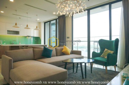 The 3 bedrooms apartment is simple but fresh and cozy inVinhomes Golden River