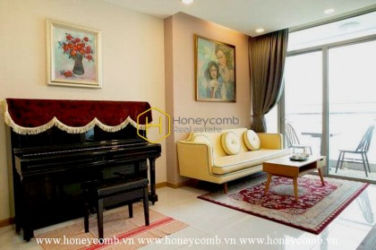 The Vinhomes Central Park apartment with interfusion of minimalist and classical styles ! Now for rent !