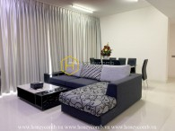 A bright apartment at The Estella with natural light and tall windows