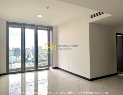 Customize your style in this unfurnished apartment with great city and river view in Empire City