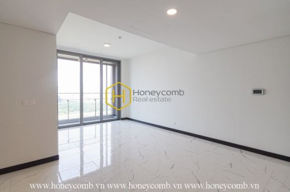 A great apartment with 2 bedrooms and no furniture in Empite City is for rent