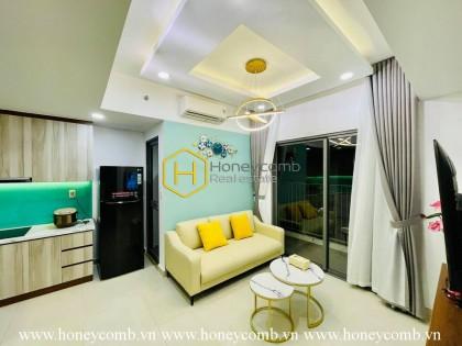 Simple 2 bedrooms apartment with high floor in Masteri Thao Dien