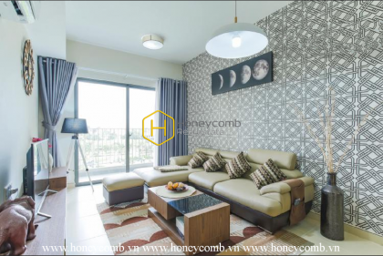Three bedrooms apartment with nice furniture and low floor in Masteri Thao Dien for rent