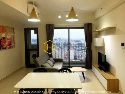 High floor one bedroom apartment with pool view in Masteri Thao Dien for rent