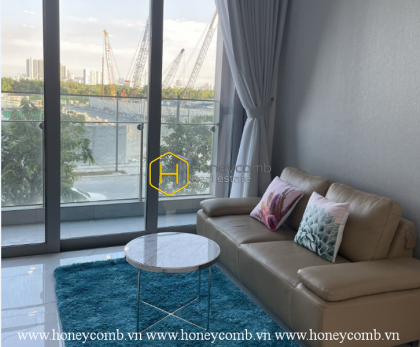 Enjoy a great view of the river and city in Empire City apartment