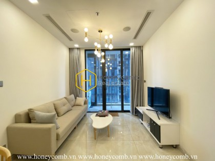 A bright apartment at Vinhomes Golden River with natural light and tall windows