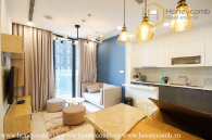 The harmony of architecture and colour created this wonderful 2 bedroom-apartment in Vinhomes Golden River