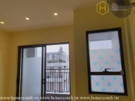 The unfurnished 1 bedroom-apartment is spacious at Wilton Tower