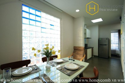 The serviced apartment with convenient and modern equipment at Thao Dien