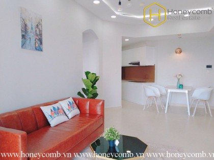 The 2 bedrooms-apartment with Expressionism decoration in Masteri Thao Dien