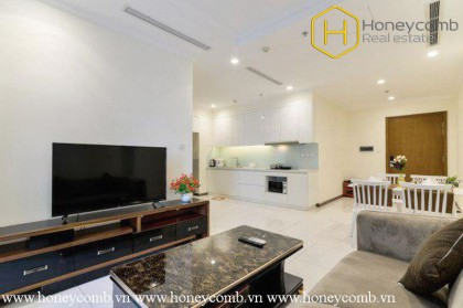 The 2 bedroom-apartment with bright design is available in Vinhomes Central Park