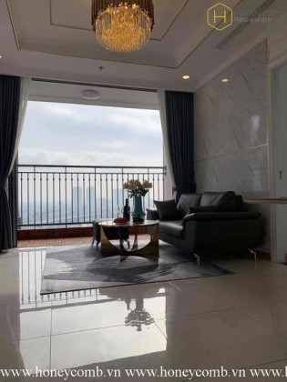 The 3 bedroom-apartment with tropical style is very delightful in Vinhomes