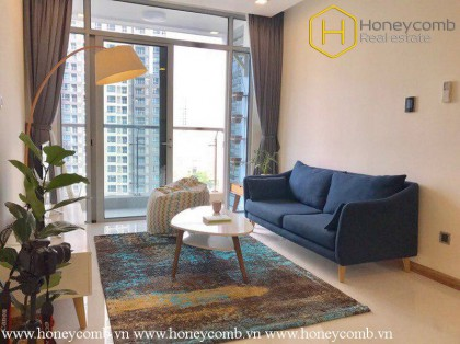 The 2 bedroom-apartment with Bohemian style is delightful in Vinhomes Central Park