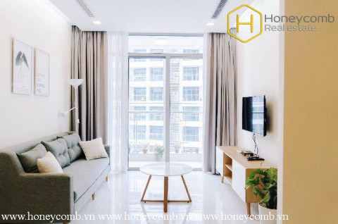 The bright 2 bedroom-apartment is still available in Vinhomes Central Park
