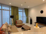 A beautiful apartment with delicated decoration and neat hue layout in City Garden