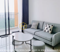 An attractive apartment with minimalist interiors and neat layout in The Sun Avenue