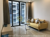 Modern furnitue with Minimalist style : Vinhomes Golden River apartment for rent