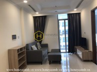 Simplified and cozy apartment with full and elegant interiors in Vinhomes Central Park