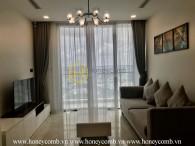 Minimalist designed apartment for rent in Vinhomes Central Park