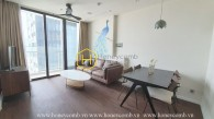 The elegance and coziness of wooden interiors apartment with enchanting river view in Vinhomes Golden River