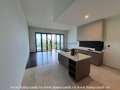 Embracing the beauty of white tone in this unfurnished apartment in D ' Edge