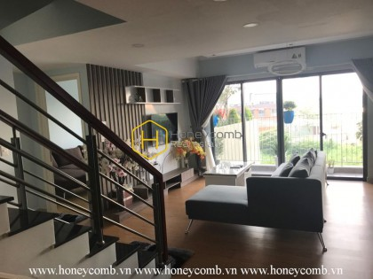 Duplex four beds apartment modern style in Masteri for rent