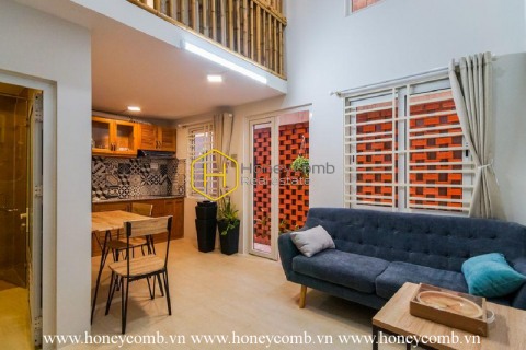 Sophisticated serviced apartment with elegant rustic interiors in District 2