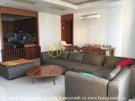 Nội thất hoàn thiện với căn hộ 3 phòng ngủ cho thuê tại Xi Riverview Palace