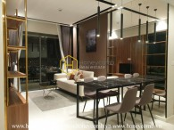 Ornately designed apartment with subtle wooden layout for rent in Masteri An Phu