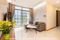 A whole new apartment in fresh white is now for rent at Vinhomes Central Park