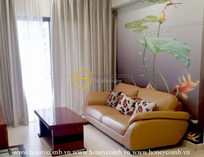 A whole new apartment in fresh white is now for rent at Masteri Thao Dien